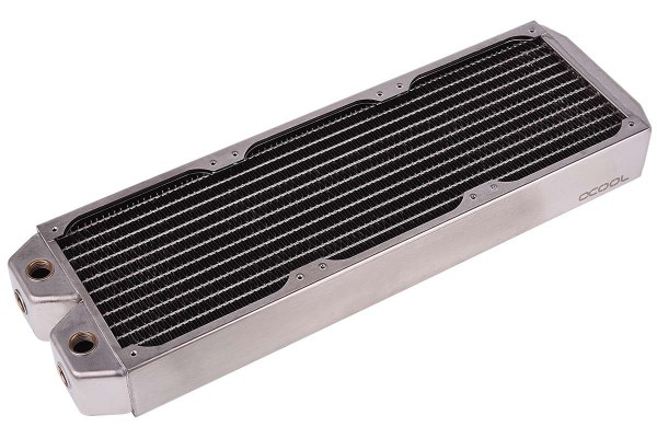 Alphacool NexXxoS XT45 Full Copper 360mm radiator - silver nickel