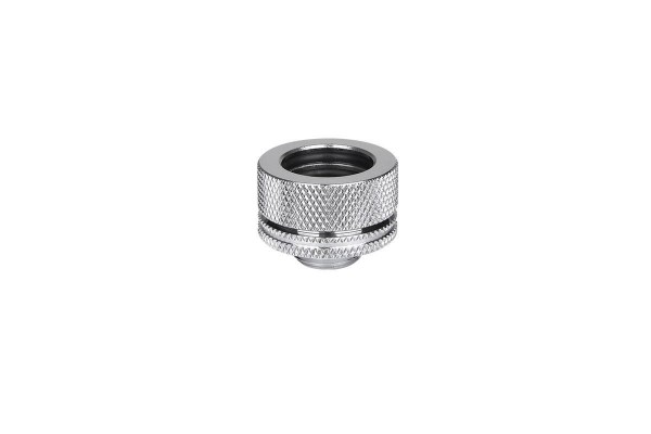 Thermaltake Pacific HardTube compression fitting 16mm OD to G1/4 - Chrome