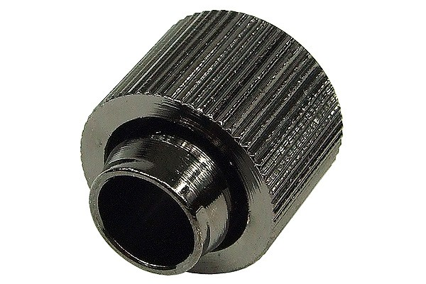 "16/13mm compression fitting straight G1/4"" - compact - black nickel plated"