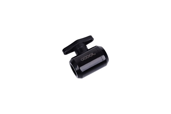 Alphacool Eiszapfen 2-way ball valve G1/4 - Deep Black