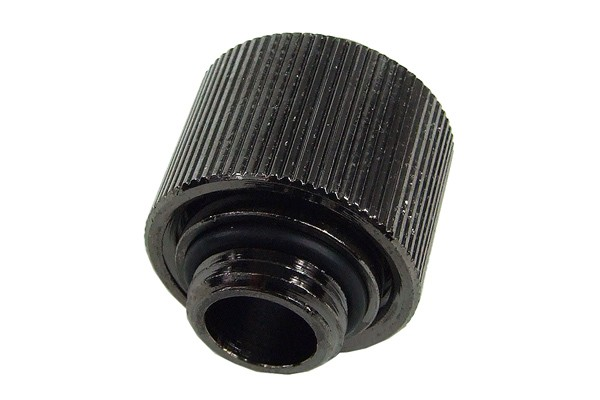 "16/11mm compression fitting straight G1/4"" - compact - black nickel plated"
