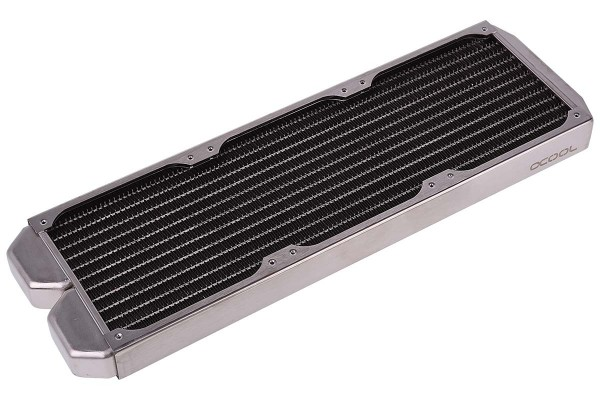 B-WareAlphacool ST30 Full Copper 360mm radiator - silver nickel