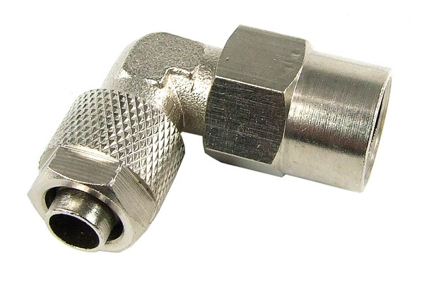 Compression fitting inner thread 1/4 to 10/8mm 90° - revolvable