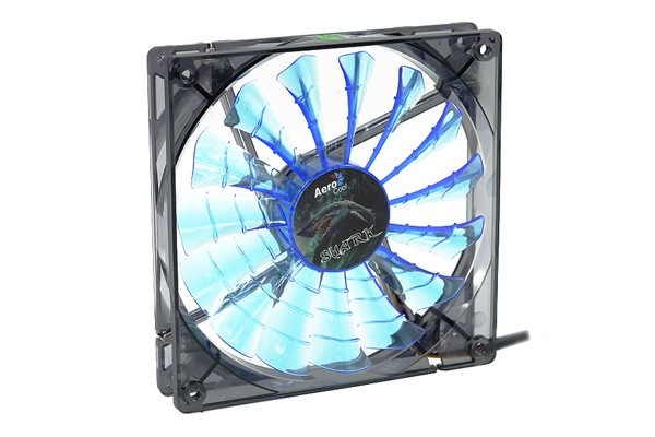 Aerocool Shark Fan Blue Edition - transparent black – blue LED (140x140x25mm)