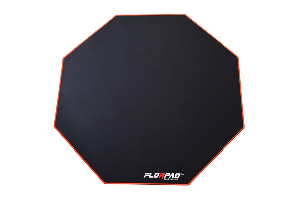 Florpad Red Line Gamer-/eSports floor protection mat - medium, red, soft, Core