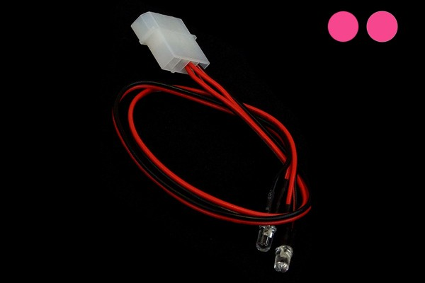 LEDready 5mm Twin ultra-bright pink