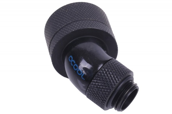 Alphacool HF 19/13 compression fitting 45° revolvable G1/4 - deep black