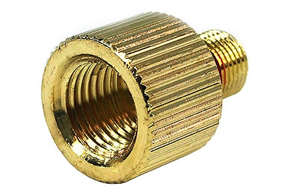 "Eheim 1046 outlet adaptor to G1/4"" – knurled – gold plated"