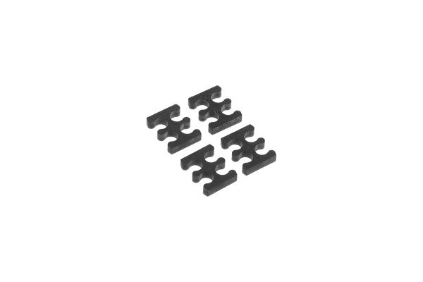 Alphacool Eiskamm X4 - 3mm black - 4 pcs