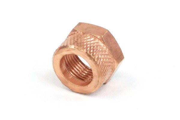 union nut 10mm - copper plated