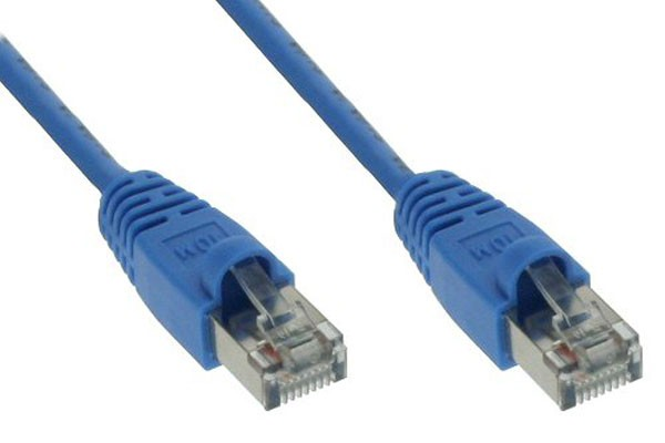 InLine® Patch cord, SF/UTP, Cat.5e, blue, 5m